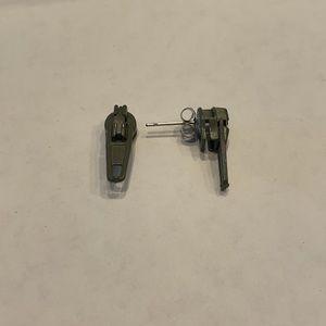 """Zipper Pull Earrings - 3/4"""""""